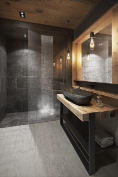 Salle de bain de style de style Moderne par razoo-architekci
