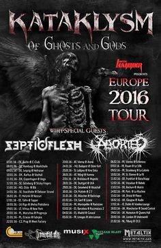 KATAKLYSM + SEPTICFLESH + ABORTED en Madrid y Barcelona