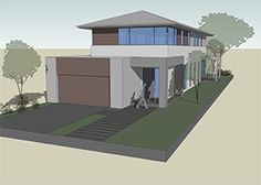 Browse nearly ready-made house plans to find your dream home today. Floor plans can be easily modified by our in-house designers. Narrow House Plans, House Plans One Story, Cottage House Plans, New House Plans, Dream House Plans, Best Modern House Design, Small Modern Home, Contemporary House Plans, Modern Design