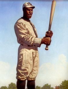 "Baseball player Henry ""Pop"" Lloyd by Kadir Nelson"