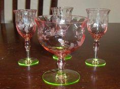 Watermelon depression glass