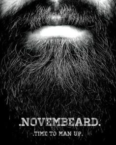 One of the reasons why I look forward to November, besides black Friday... Guys with beards are hot!