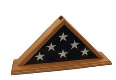 Flag Display Case - 3'x5' - Oak