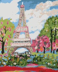 Definitely visit France. Eiffel Tower Dream Digital Art  - Eiffel Tower Dream Fine Art Print