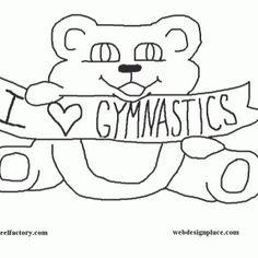 gymnastics coloring