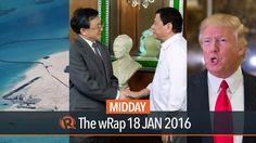 Duterte, Lorenzana, Trump   Midday wRap - WATCH VIDEO HERE -> http://dutertenewstoday.com/duterte-lorenzana-trump-midday-wrap/   Today on Rappler: – Duterte meets top China envoy – Lorenzana: Chinese militarization in Spratlys 'troubling' – Trump least popular incoming president in 4 decades Follow Rappler on Social Media: Facebook – Twitter – Instagram – YouTube...