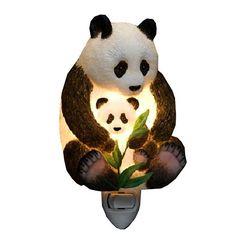 Ibis Orchid Design Panda Bear Mother and Cub Night Light Ibis & Orchid Design http://smile.amazon.com/dp/B001EVOMSK/ref=cm_sw_r_pi_dp_zZFStb0AQV8HSS5C