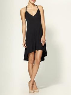 Pleated Hi Lo Day Dress