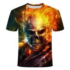 Ghost Skull Rider T-Shirt | Skullflow Skull Shirts, 3d T Shirts, Cool T Shirts, Skull Carpet, Plus Size Shorts, Skull Design, Herren T Shirt, Tshirts Online, Mens Tees