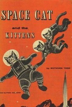 Love the vintage-style artwork on this amazing Space Cat book!
