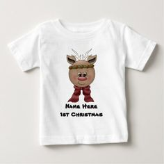 Reindeer Baby's 1st Christmas T-shirt