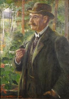 Xaver Scharwenka (1850-1924), painting (1920), by Theodor Wedepohl (1863-1923).