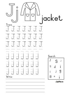Alphabet Printable J for Jacket FREE! • KraftiMama Camping Games, Parents As Teachers, Grade 1, Printable, Writing, Education, Jacket, Words, Free