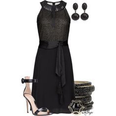 """Classic in Black"" by kginger on Polyvore"