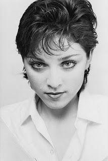 Madonna em começo de carreira...