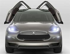 Tesla Model X - and... this is an all electric crossover?  Love this!