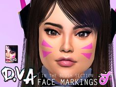 The Sims Resource: Face Markings by SenpaiSimmer • Sims 4 Downloads