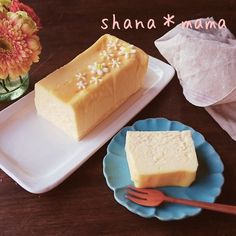 5 minutes to the oven ♪ Mecha rich terrine style cheesecake ♪ – Sweet World Ideas Asian Desserts, Sweet Desserts, Sweets Cake, Exotic Food, Sweets Recipes, Chocolate Desserts, Cheesecake Recipes, Yummy Cakes, Food And Drink