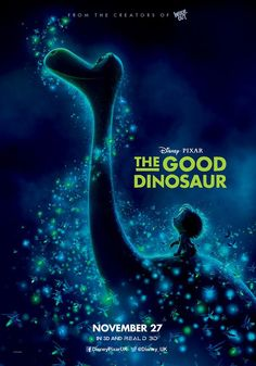 "Pixar never seems to fail us when it comes to family friendly heartwarming films. Another new movie coming out this November, Pixar's ""The Good Dinosaur,"" is a loving tale about. The Good Dinosaur, Dinosaur Movie, Dinosaur Posters, Dinosaur Toys, Dinosaur Party, Streaming Movies, Hd Movies, Movies To Watch, Movies Online"