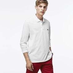 Long-sleeve Lacoste L.12.12 polo White