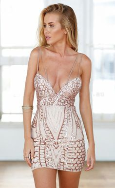 $54.99 Sleeveless Geometric Sequin Slim Party Dress