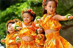 """In Hawaii, the word for child is """"keiki"""". These little ones are learning the art of hula, which is the sacred dance of Hawaii. Every movement & hand gesture has a specific meaning, usually pertaining to the ocean, the palm trees, any natural aspect of Hawaiian life."""
