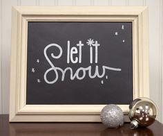 Silhouette Blog: Vinyl Stencils for Holiday Chalkboard Art