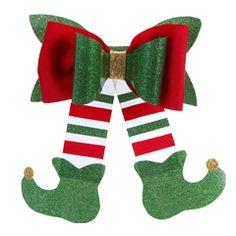 Elf Christmas Decorations, Christmas Bows, Christmas Gift Wrapping, Diy Christmas Ornaments, Kids Christmas, Christmas Stockings, Xmas, Felt Hair Accessories, Creative Gift Wrapping