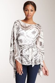 Batwing Silk Tunic Blouse