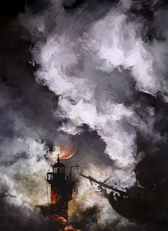 lighthouse by Natha Niel | Illustration | 2D | CGSociety