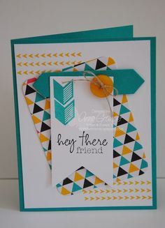 Hey There Friend card created with the new Project Life Everyday Adventure card collection and accessory pack by Stampin'Up!