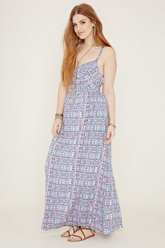 134909d3df572 Plus Size Abstract Maxi Dress