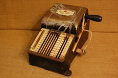 Vintage 1930's Check Writer Machine vintage by PickersWarehouse