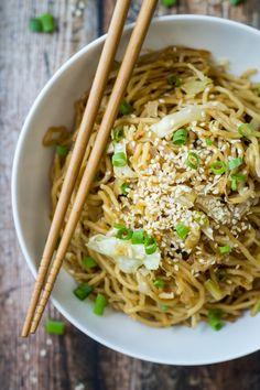 15 Minute Easy Yakisoba Noodle Stir Fry by Wanderlust Kitchen