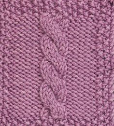This Standard Rope Cable Pattern can be worked crossing left or right. Free pattern from Cable Left, Cable Right by Judith Durant. Cable Knitting Patterns, Knitting Basics, Knitting Stitches, Knitting Needles, Knit Patterns, Stitch Patterns, Knitting Scarves, Crochet Designs, Knitting Designs