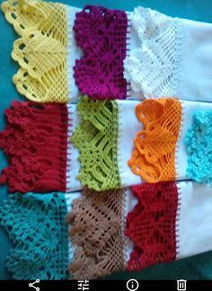 Easiest Crochet Frills Border Ever! Crochet Border Patterns, Crochet Lace Edging, Diy Crochet, Crochet Doilies, Crochet Baby, Knitting Patterns, Crochet Flowers, Crochet Edgings, Puff Stitch Crochet