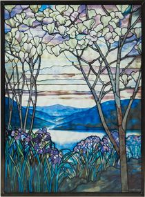 The Met Store -  Louis Comfort Tiffany: Magnolias and Irises Glass Panel