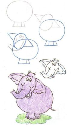 Yes, pinning children drawing-- Children and creativity. Elementary drawing lessons for kids - A Little Elephant / How to draw. Painting for kids / Luntiks. Crafts and art activities, games for kids. Children drawing and coloring pages