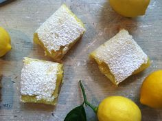 """Meyer Lemon Bars  """"The meyer lemon tree in my backyard had gotten out of control. With so many lemons, something had to be done. The solution, a big batch of Meyer Lemon Bars. I adapted a recipe to make them very lemony (yes, it's a new word...lemony). Like pucker up and enjoy lemony. They were soooo delicious! You have to try them. An absolute hit."""""""