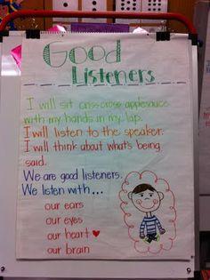 Anchor Chart: Good Listeners