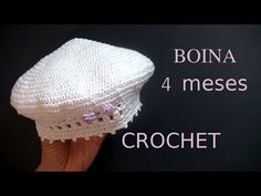 BOINA a crochet o ganchillo para bebe tutorial paso a paso. Moda a Crochet. Crochet Round, Cute Crochet, Crochet Newsboy Hat, Crochet Hats, Crochet Furniture, Baby Girl Crochet, Crochet Videos, Crochet For Beginners, Learn To Crochet
