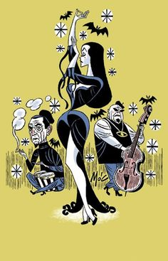Vampira, Bela Lugosi and Tor Johnson by artist, Mitch O'Connell http://www.mitchoconnell.com/