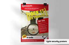 Poster to promote cycle security on Brackmills Industrial Estate in Northampton