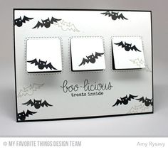 Frightfully Fun Halloween stamp set and Die-namics, Stitched Interactive Window Trio Die-namics - Amy Rysavy #mftstamps