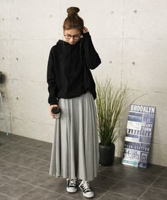 Ideas For Skirt Casual Outfit Winter Stylists Casual Hijab Outfit, Casual Skirt Outfits, Casual Skirts, Modest Outfits, Outfits Otoño, Fall Fashion Outfits, Casual Chic Summer, Casual Chic Style, Winter Outfits Women