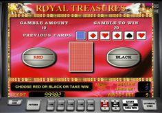 Удвоение на игровом автомате Королевские Сокровища