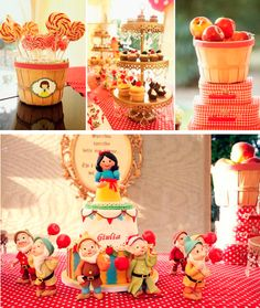 Snow White Themed Birthday Party via Kara's Party Ideas - www.KarasPartyIdeas.com