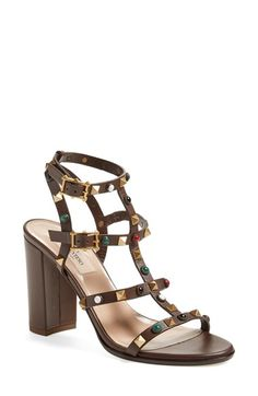 VALENTINO 'Vitello' Studded Sandal (Women). #valentino #shoes #sandals
