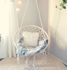 Boho dream catcher hanging chair rattan chair hammock swing macrame beige is part of Hanging hammock chair - 47 2 Weight Capacity 265 lbs Material Cotton rope, Iron hoop Cute Room Ideas, Cute Room Decor, Teen Room Decor, Comfy Room Ideas, Hanging Hammock Chair, Swinging Chair, Chair Swing, Diy Hammock, Papasan Chair