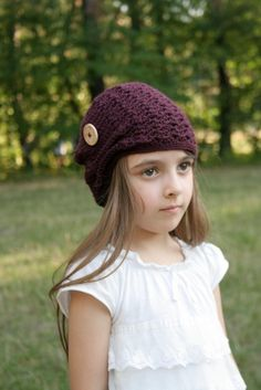 Kelsey Slouchy Hat - crochet pattern - Toddler Child and Adult sizes - pdf format / eBook
